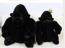 stuffed toy large black Orangutan plush toy throw pilow birthday gift h429