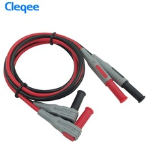 Free shiping  Cleqee P1033 Multimeter Test Cable Injection Molded 4mm Banana Plug Test Line Straight to Curved Test Cable