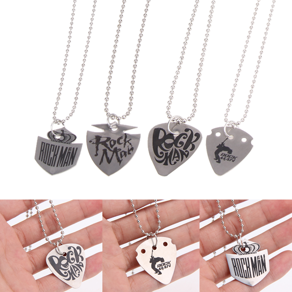 4pcs lot 60cm stainless steel guitar pick necklace chain silver guitar parts 0 5mm thickness. Black Bedroom Furniture Sets. Home Design Ideas