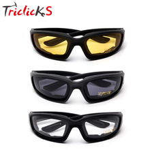 Triclicks 3 pair New Yellow Smoke Clear Lens Sun Glasses Unisex Protective Gear Motorcycle Windproof Sunglasses Goggles