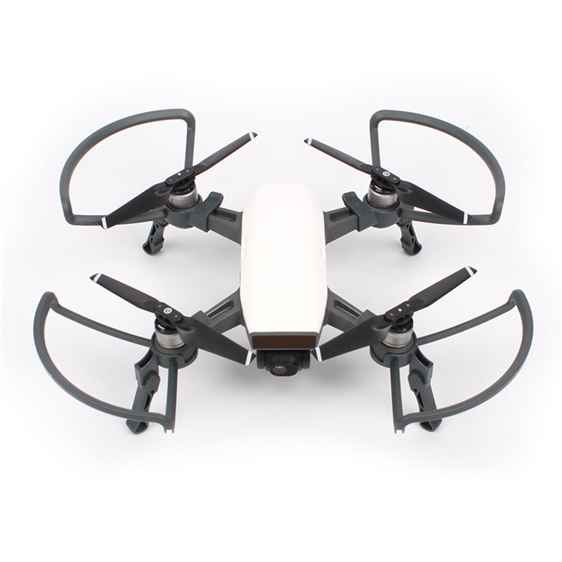 Heightened Extension Landing Gear + Props Guards Protector For DJI SPARK Quick Release Dual Protection Safe Flying Accessories