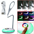 Wireless Rechargeable Color Changing Atmosphere Desk Table Reading Light Eye Protection Dimmable Colorful LED Touch Lamp