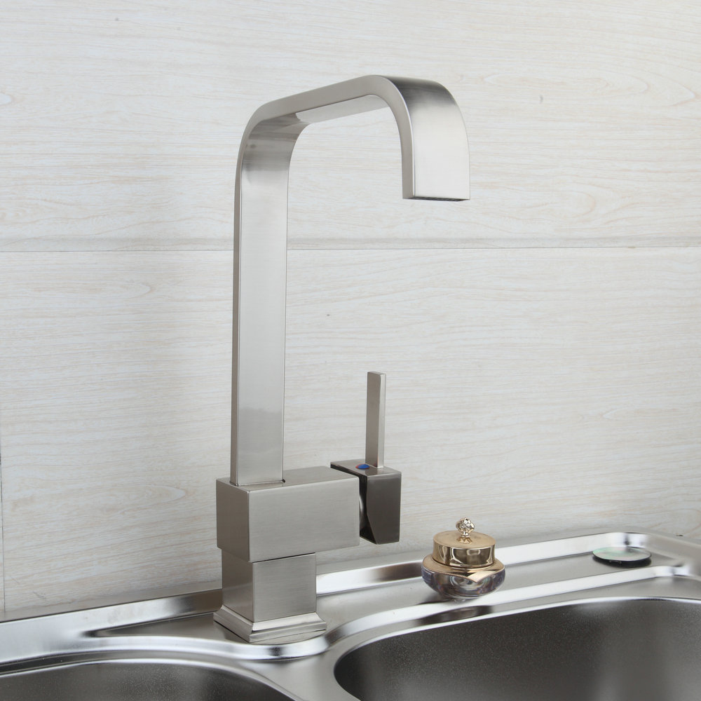Fashion Luxury New Wholesale  Retail Chrome Brass Kitchen Faucet Swivel Vessel Sink Mixer Tap