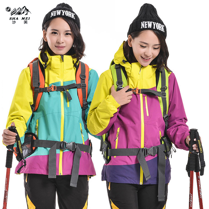 Snowboard Jacket Softshell and Fleece hiking Winter Outdoor Sport Outerwear Waterproof Warm Outfit Women skiing Coat Jackets 2016 high quality alpha n 3b mens shark softshell jacket tad outdoor male warm waterproof man fleece jackets outerwear