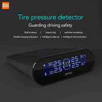 Xiaomi 70mai TPMS Tire Pressure Sensor Monitor Systerm Solar Power Solar Power LCD Display Car Security Alarm Tyre Pressure