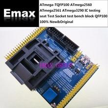 ATmega TQFP100 ATmega2560 ATmega2561 ATmega3290 IC Test koltuğu test Soketi Test tezgah blok TQFP100 QFP100