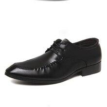 Мужчины Качество офисная обувь Мужская модная обувь оксфорды кожаные masculino Sapatos Туфли-оксфорды мужские деловые туфли