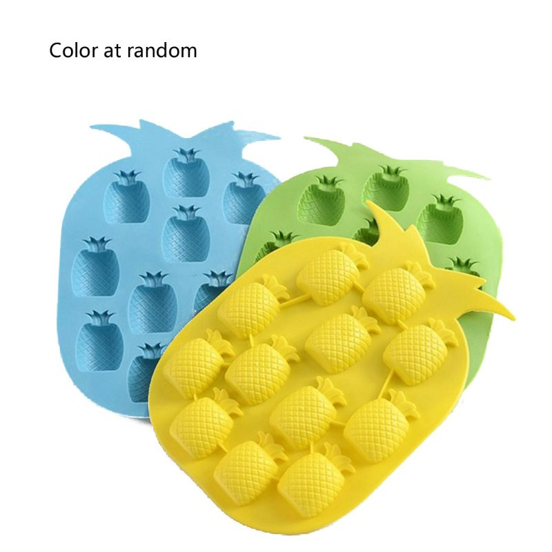 Cute Pineapple Flexible Ice Cube Tray Resin Pendant Silicone Molds Jewelry Tools