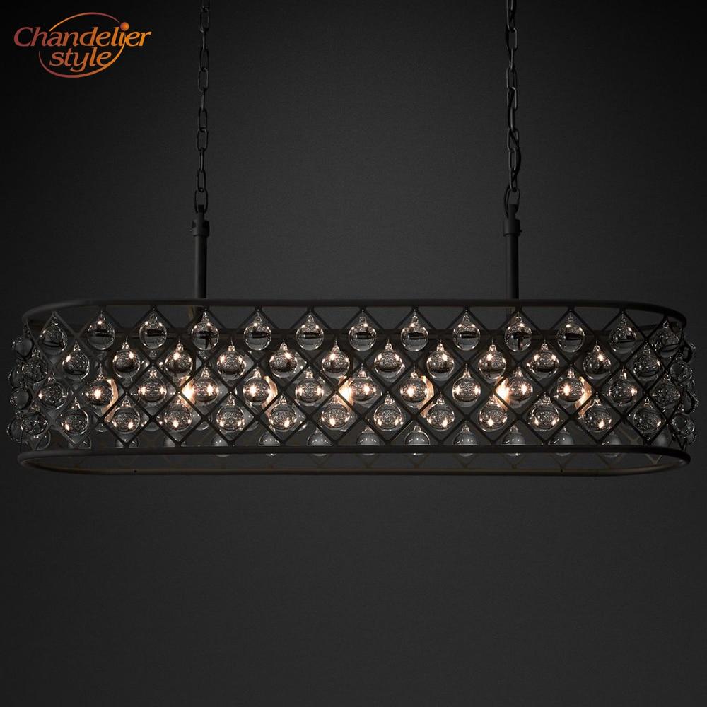 Us 361 48 51 Off Spencer Rectangular Chandelier Lighting Modern Vintage Crystal Pendant Hanging Light Fixtures Restaurant In