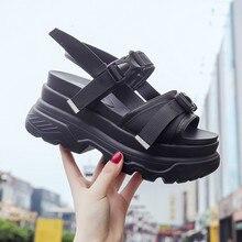 Fashion Women Summer Sandals Wedges thick bottom Platform Slippers ladies walking shoes zapatillas chinelo sandalia Yasilaiya цены онлайн