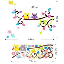 animals wall stickers kids play room decorations 1017. owls adesivos de paredes home decals nursery mural art birthday gift 4.0