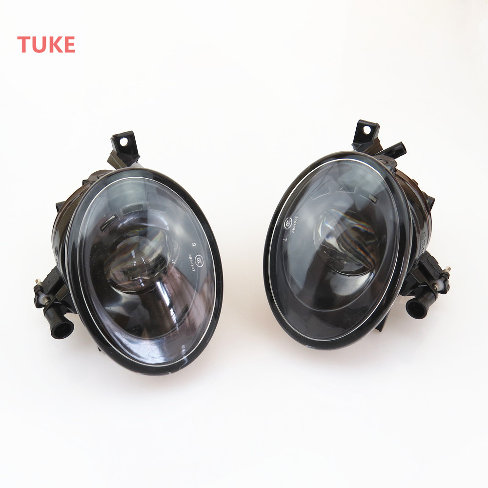 TUKE 1Pair Front Left Right Bumper Convex Lens Fog Lights Lamp For VW Golf Jetta Touran Tiguan EOS Caddy 5KD 941 699 5KD 941 700 projector lens front fog lights for vw new caddy