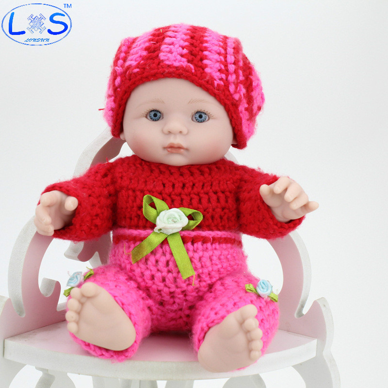 LONSUN 23CM Boy Silicone Reborn Dolls Hobbies Stuffed Toys Accessories Dolls Bedtime Early Education Girl Toys Christmas Gift