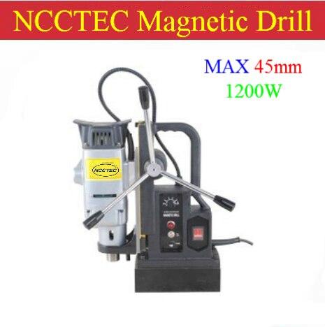 45 ミリメートル NCCTEC コアドリル磁気ドリル NMD45C   1.8 ''鋼鉄磁気掘削機   1200 ワット