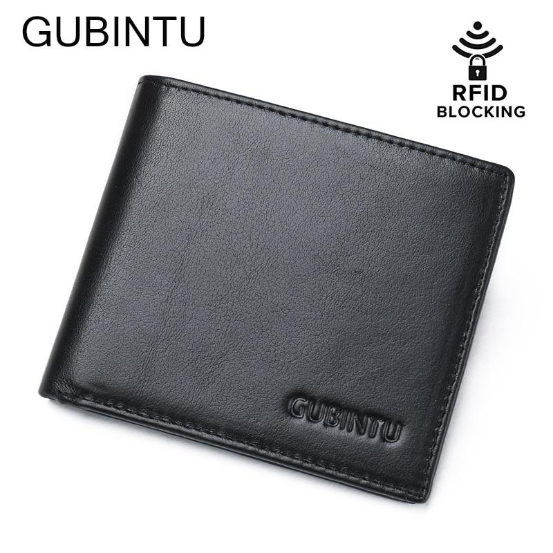 цена RFID Blocking Wallet ID identity credit card blocking men's genuine leather wallet with flip up ID window slim black men wallets онлайн в 2017 году