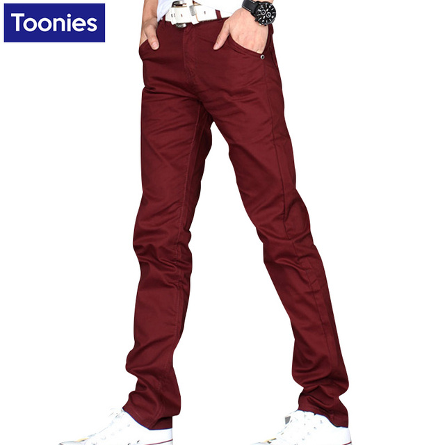 Hot! 8 Colors Slim Fitness Men's Pants 2017 Spring Straight Joggers Solid Color Trousers Man Solid Color Pants Casual Sweatpants