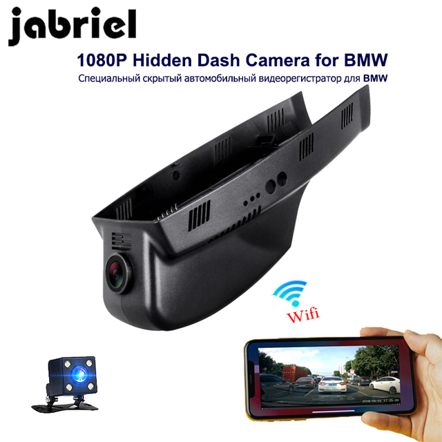 Jabriel 1080 จุด Wifi ซ่อนกล้อง DVR Dash cam สำหรับ BMW 3/5/7/ x3/X5 E46 E60 E90 E70 E71 E81 E83 E84 F01 F10 F20