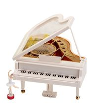 Classical Clockwork Type Music Boxes Rotary Ballerina Girl On The Piano Music Box Gifts