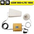 GSM 900 4 Г LTE 1800 Dual Band Усилитель Сигнала GSM 900 мГц 1800 мГц Мобильный Сигнал Повторителя GSM 4 Г Сотовый Усилитель Для мобильный телефон