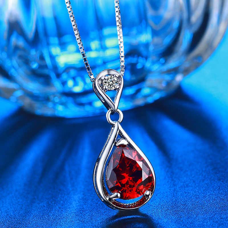 高級水滴赤い石のネックレス美しいジュエリーpendentsネックレス用ウェディングパーティーn005