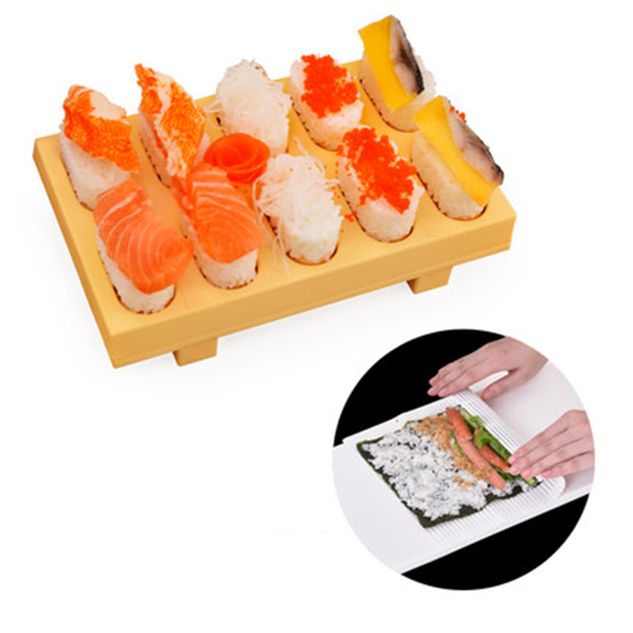 Cute Rice Sushi Mold Plastic DIY Set Machine Sushi Molds Making Kit Maker Mold Ferramentas Tools Kitchen Accessories 50N6043