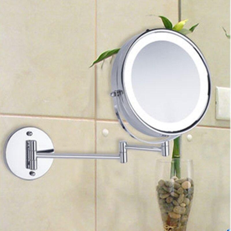 SpringQuan 8.5 inch metalen cosmetische spiegel 2-Face batterij - Huidverzorgingstools - Foto 3