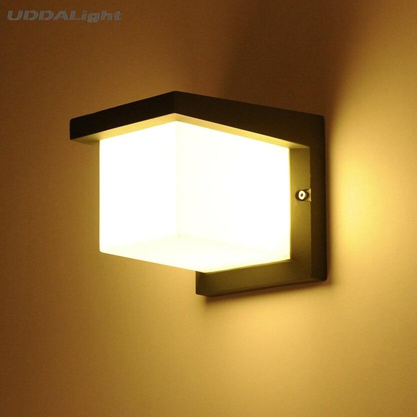 o quadrado conduziu a luz exterior da parede 10 w smd conduziu a luz ip65 da