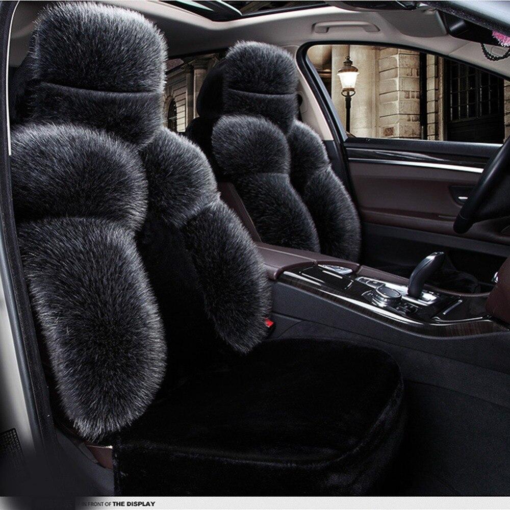 black plush seat cover