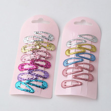 10PCS/Pack New High Quality 10Colors Mini Small 3cm Print Candy Color Lovely Popular Kids BB Clips