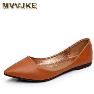 MVVJKE womens sandals shoe Woman Genuine Leather Flat Shoes Fashion Hand-sewn Leather Loafers Female hole hole shoes Women Flat(China)