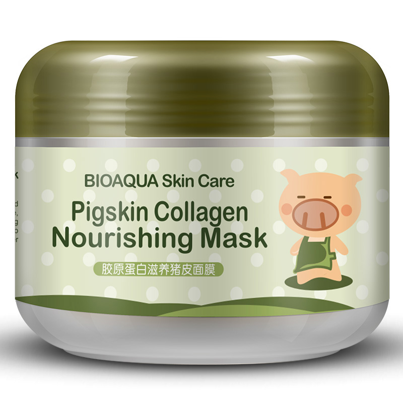 BIOAQUA Collagen Gesichtsmaske Feuchtigkeitsspendende Schlafmaske Feuchtigkeitsspendende Kollagen-gesichtsschablone Whitening Haut Schlamm-maske Frauen Hautpflege kit