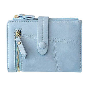 Aelicy Coin Wallet Short-Clutch Folding Small Genuine-Leather Lady Card-Holder Women