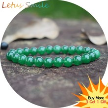 Fashion Green Crystal Strand Bracelets for Women Semi-precious Stones Bracelet Men Nature Stone Jewelry Braslet Pulseras Hombre