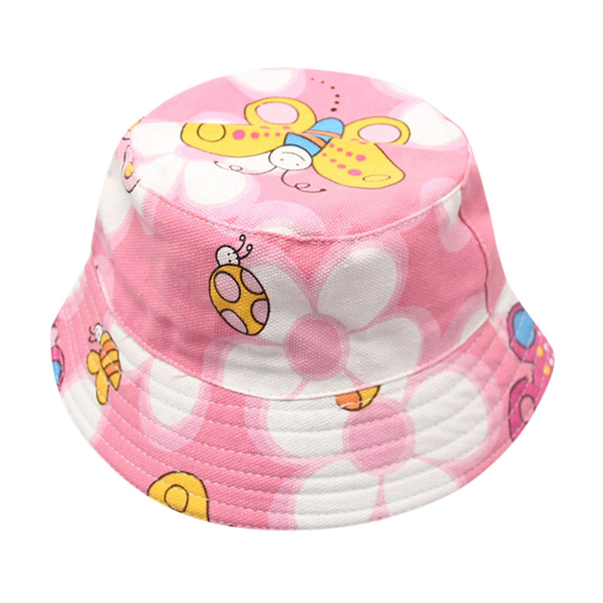 Apparel Accessories Special Section Caps For Toddler Baby Kids Floral Pattern Bucket Hats Sun Helmet Cap Fishman Cap For Boys Girls M40z