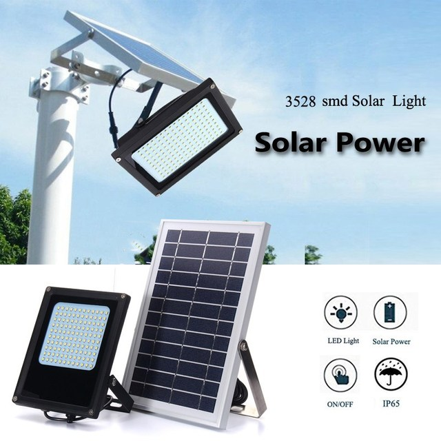 120 Led Solar Light 3528 Smd Warm White Waterproof Floodlight Flood Outdoor Garden Sensor Security Lamp