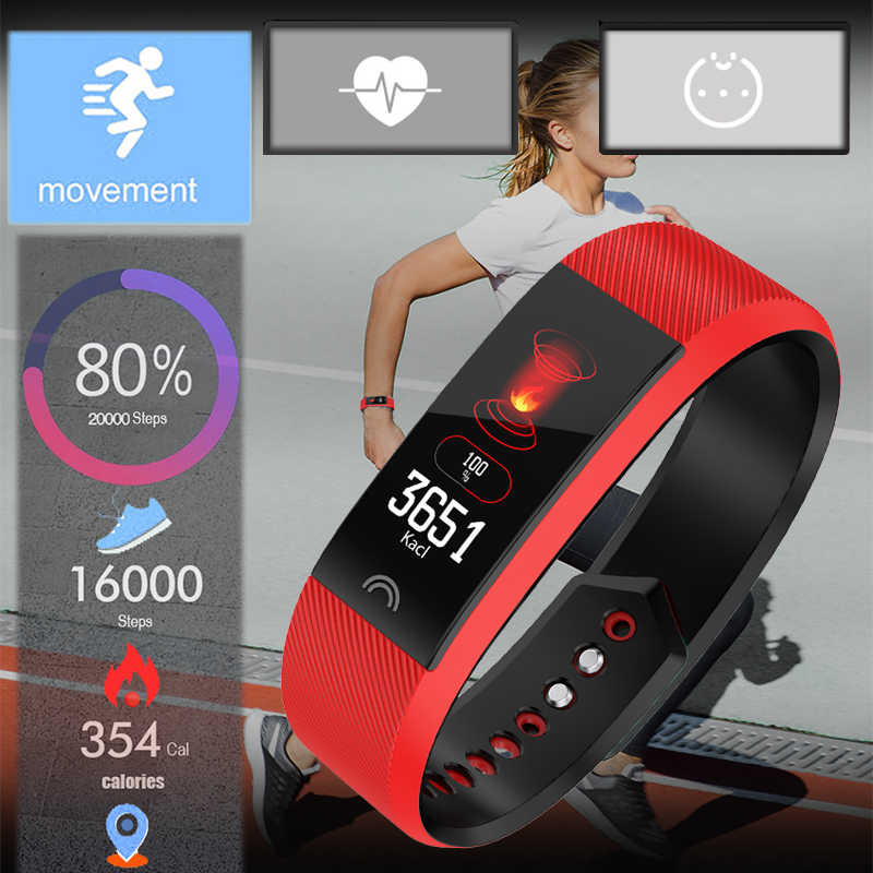 New Smart Watch Women Blood Pressure Heart Rate Bluetooth Pedometer Waterproof Sport Fitness Wrist Watch Clock For IOS Android