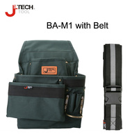 Jetech professional electricians waist tool bag pouch storage organizer holder tools with tool belt hardware thick cloth bags