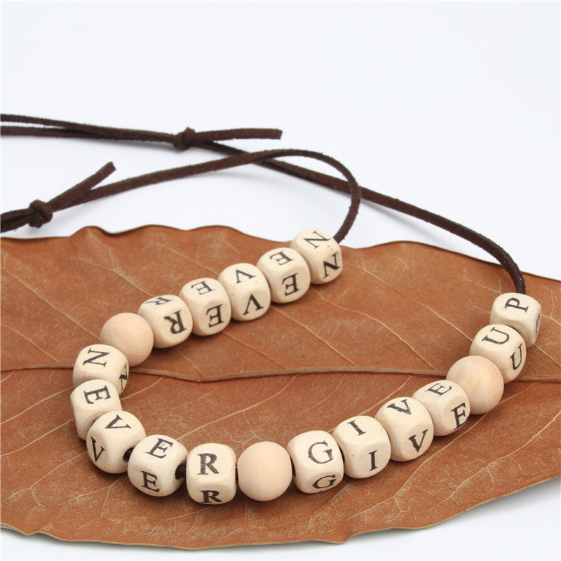 Naomy&ZP Wood Necklace For Women Boho Bohemia Necklace Big Long Wholesale Letter Statement Necklace Fashion Accessories Jewelry