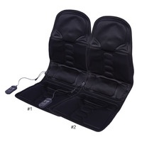 Auto Car Home Office Full Body Back Neck Lumbar Massage Chair Relaxation Pad Seat Heat Hot