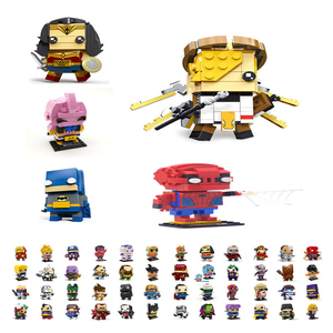 Single 65pcs Avengers Fangtouzi Iron Man Beauty Team Dragon Ball Children's fight to insert building blocks toy gifts compatible