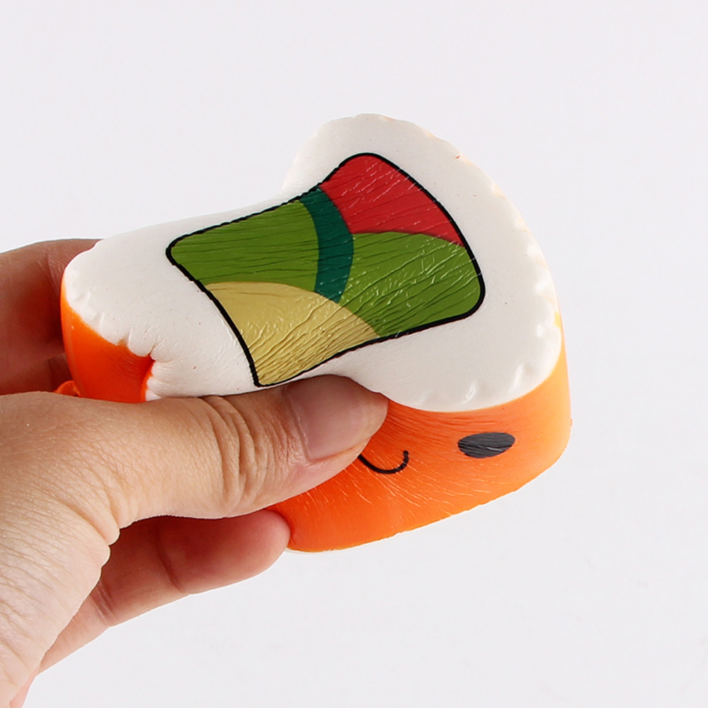 MUQGEW 1PCS Hamburger Decompression Toys Sushi Scented Squeeze Slow Rising Fun Toy Relieve Stress Cure Gift