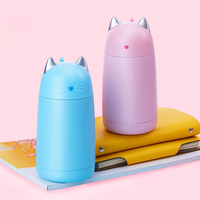 Portable Lovely Cat Stainless Steel Vacuum Flask Thermos Cup Thermo Mug Drinkware Child Water Bottle Leak