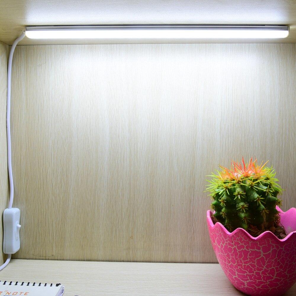 2 unids 50 cm Lámpara de Mesa USB Banco de la Energía Suministrada 5 V 2835 LED