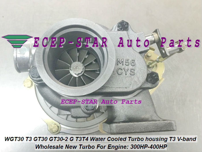 WGT30 T3 GT30 GT30-2 G T3T4 Turbo Turbocharger Turbine housing T3 V-band Water Cooled 300HP-400HP