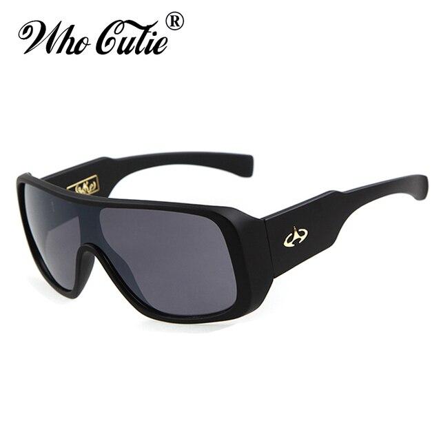 WHO CUTIE 2018 Sport Shield Sunglasses Men Brand Designer Classic ONE PIECE  Driving Male Square Sun 40fba41a18
