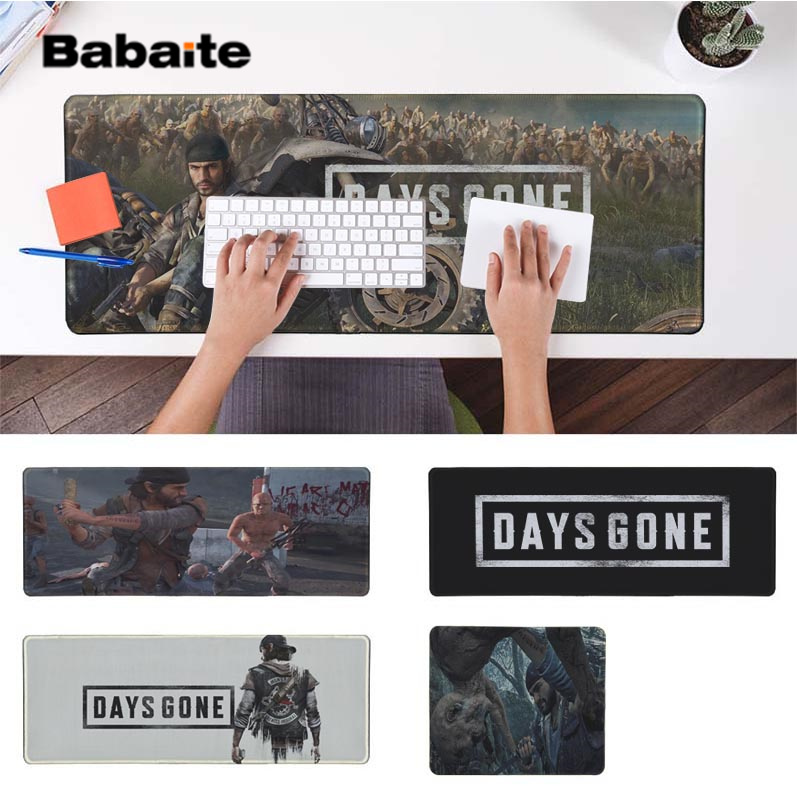 Babaite My Favorite Days Gone  Silicone large/small Pad to Mouse Game Free Shipping Large Keyboards Mat