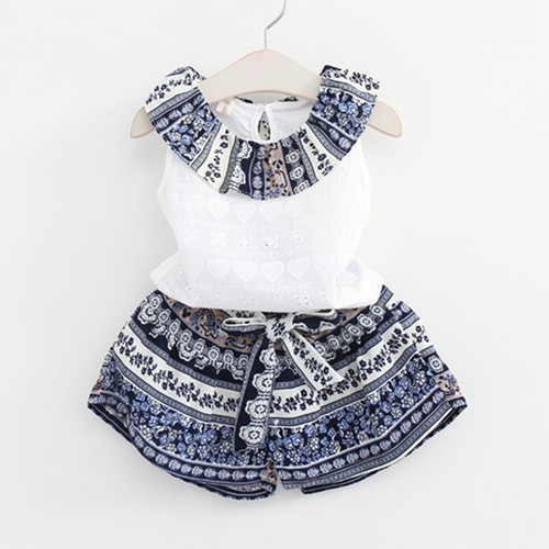 Retail 2017 girls clothes summer girls clothing sets kids clothes girl Tassels T-shirts+Floral shorts clothing sets 2-6 year retail kids 2017 baby girls clothes summer girls clothing sets kids clothes girl denim t shirts denim shorts sets 2 6 years 2