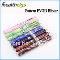 EVOD MT3 with Pattern E Cigarette Kits Starter Blister MT3 Atomizer EVOD  Battery Ego Electronic Free Shipping 50pcs/lot