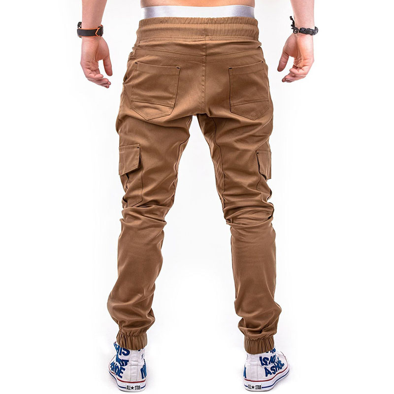 LeeLion 2018 New Fashion Casual Leggings Men Solid Pants Pantalon Homme Drawstring Pocket Elastic Mens Joggers Sweatpants Male