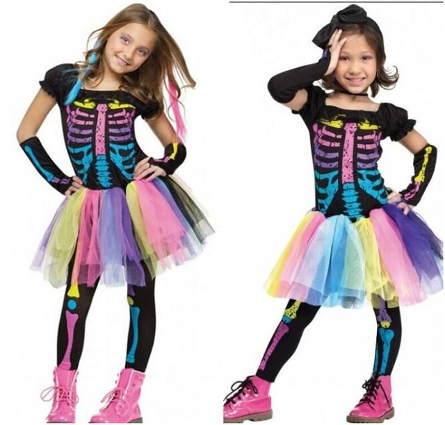 Disfraces de Halloween para los niños de la muchacha del arco iris ...